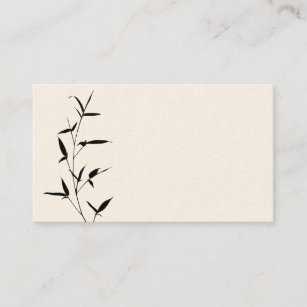 Carte De Visite Noir En Bambou Blanc Modele Darriere