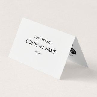 Carte De Visite Noir et blanc minimaliste moderne de fidélité