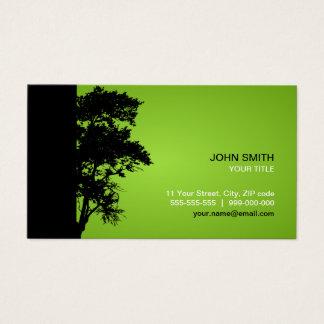 Carte de visite noir/vert d'arbre