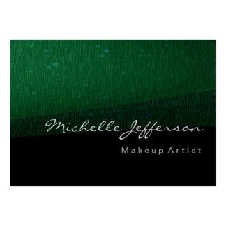 Carte de visite noir vert moderne potelé de motif