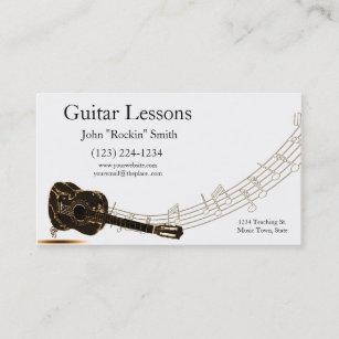 Carte De Visite Notes Musique Lecons Guitare