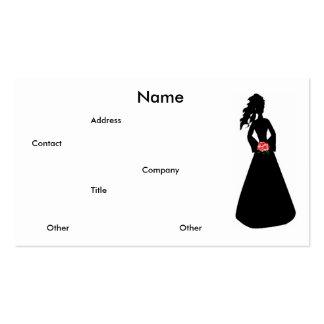 Carte de visite nuptiale de la silhouette III