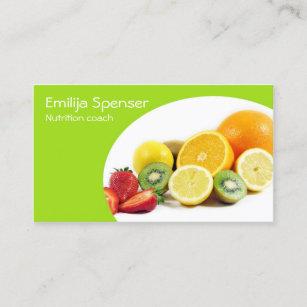 Carte De Visite Nutritionniste Jaune Vert Saine La Vie