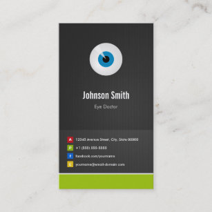 Carte De Visite Ophtalmologiste Soin Doeil