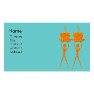 Carte de visite orange de café ou de thé