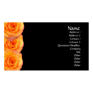 Carte de visite orange de roses