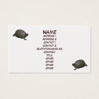 Carte de visite oriental de tortue de boîte