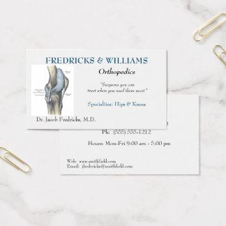 Carte de visite orthopédique de chirurgien
