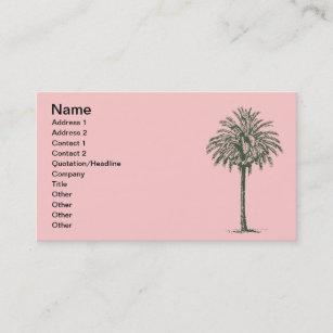 Carte De Visite Palmier Vert