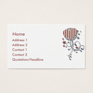 Carte de visite patriotique de coeur de KRW