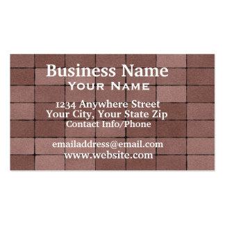Carte de visite pavant des briques