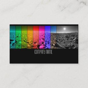 Carte De Visite Paysage Desert Avec Les Masques Colores