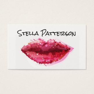 Carte de visite peint de maquilleur de lèvres