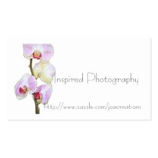 Carte de visite peint d'orchidée