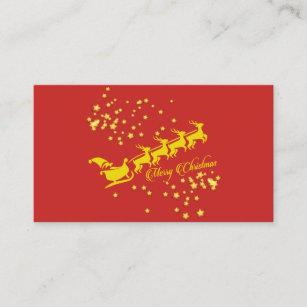 Carte De Visite Pere Noel Vole Loin