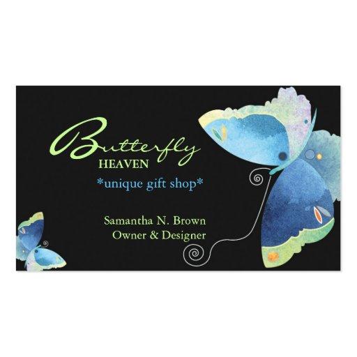 Carte de visite personnalisé par papillon bleu élé