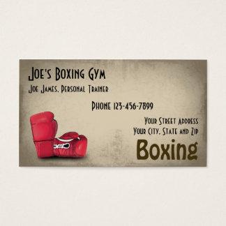 Carte de visite personnel de gymnase de boxeur