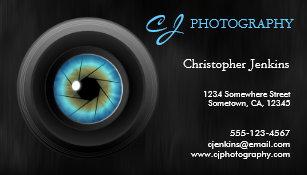 Carte De Visite Photographe Frais Dobjectif Camera Doeil Bleu