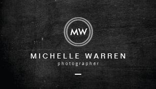 Carte De Visite Photographe Moderne Du Logo II Dinitiales