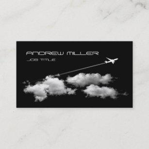 Carte De Visite Piloter Loin Avion Agent Voyage Pilote