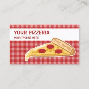 Carte De Visite Pizzeria Tranche Pizza Bande Dessine