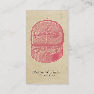 Carte De Visite Plaine Vintage Couture Rose Cool Style