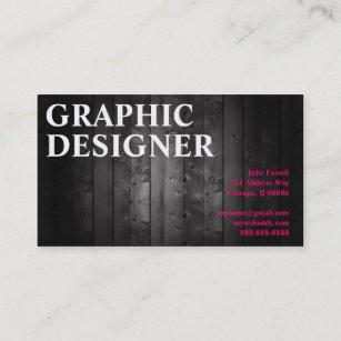 Carte De Visite Planche En Bois Conception Graphique Dartiste
