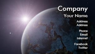 Carte De Visite Planete Lespace