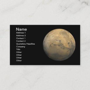 Carte De Visite Planete Mars Dans Le Systeme Solaire La NASA