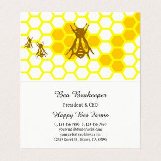 Carte de visite plié par coutume de nid d'abeilles