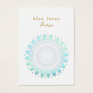 Carte de visite potelé de Lotus de regard bleu