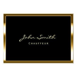 Carte de visite potelé d'or de chauffeur élégant