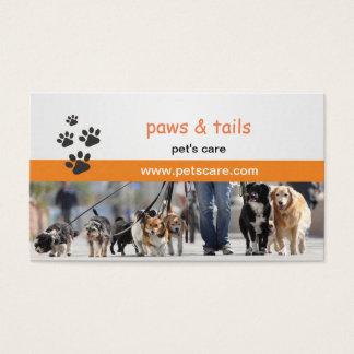 carte de visite pour des entraîneurs de chien