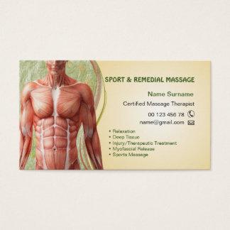 Carte de visite pour le thérapeute de massage