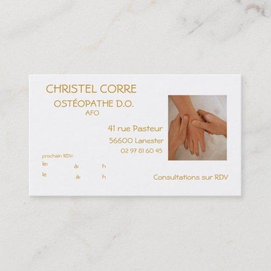 Carte De Visite Pour Osteopathe
