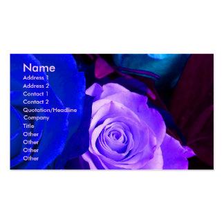 Carte de visite pourpre bleu de l artiste I de ros