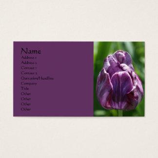 Carte de visite pourpre de photographie de fleur