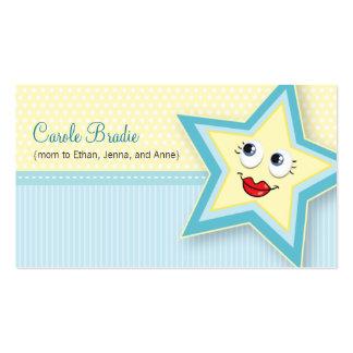 Carte de visite précieux de bleus layette de carte