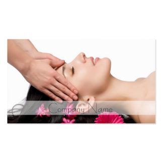 Carte de visite principal de salon de massage/beau