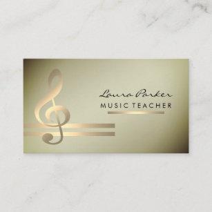 Carte De Visite Professeur Musique Musicien Avec Les Notes