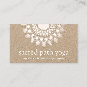 Carte De Visite Professeur Spirituel Yoga Mandala Fleur