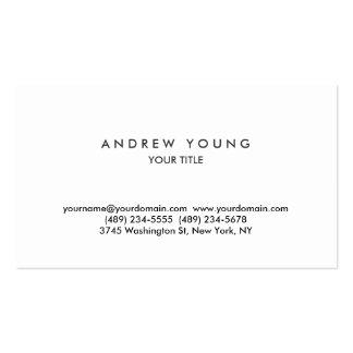 Carte de visite professionnel blanc simple simple