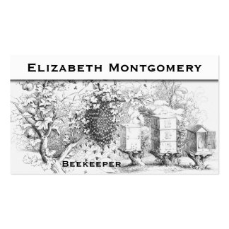 Carte de visite professionnel d apiculteur de styl