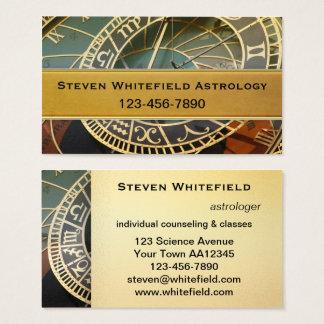 Carte de visite professionnel d'astrologue