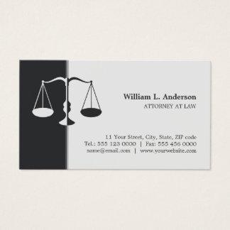 Carte de visite professionnel (gris) d'avocat de