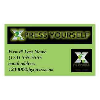 Carte de visite professionnelle de visite de FG Xp