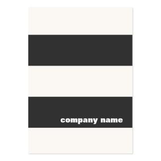 Carte de visite rayé noir et blanc moderne