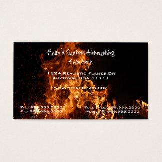 Carte de visite réaliste de flammes