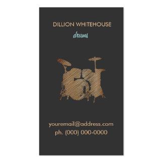 Carte de visite réglé de tambour