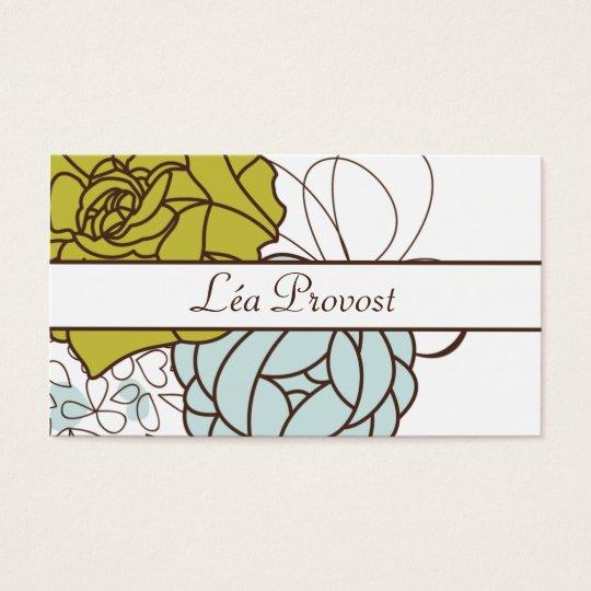 Carte de visite Romantic Flowers